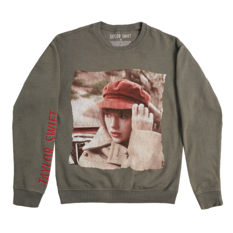 ALBUM COVER by Taylor Swift - GREY CREWNECK - shop now at Taylor Swift store