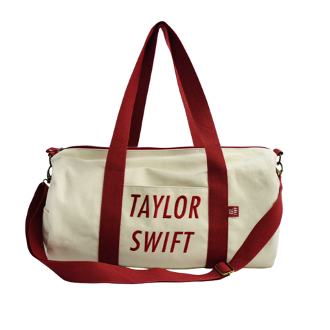 TAYLOR SWIFT RED AND CREAM by Taylor Swift - DUFFLE BAG - shop now at Taylor Swift store